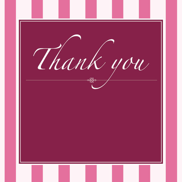 Vintage Blush | Stripes |  Thank you: Evite