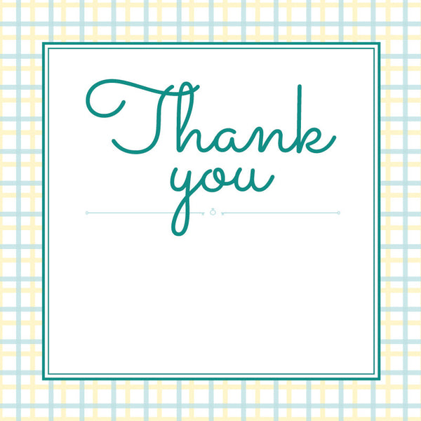 Lusciously Minty | Check | Thank you: Printed