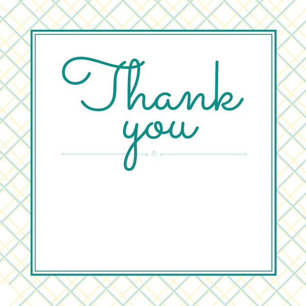 Lusciously Minty | Crosshatch | Thank you: Printed