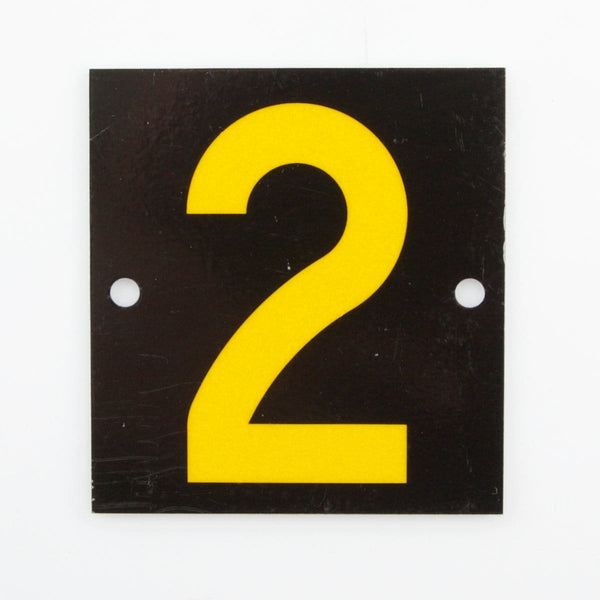 Reflective Identification Number - Black 2