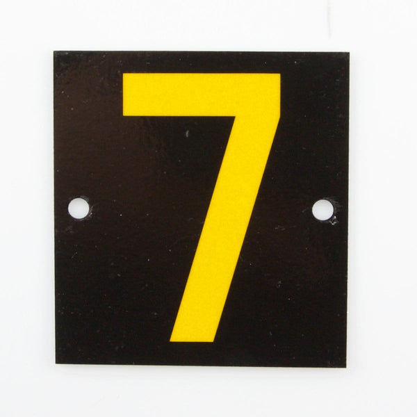 Reflective Identification Number - Black 7