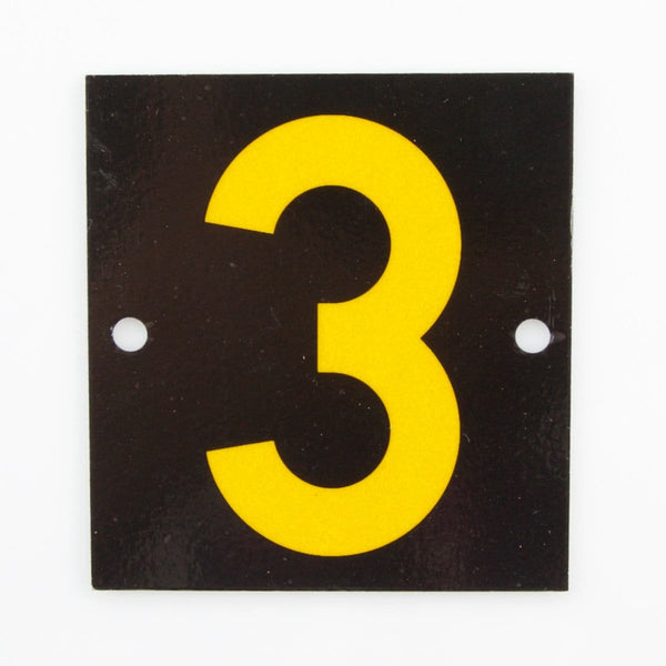 Reflective Identification Number - Black 3