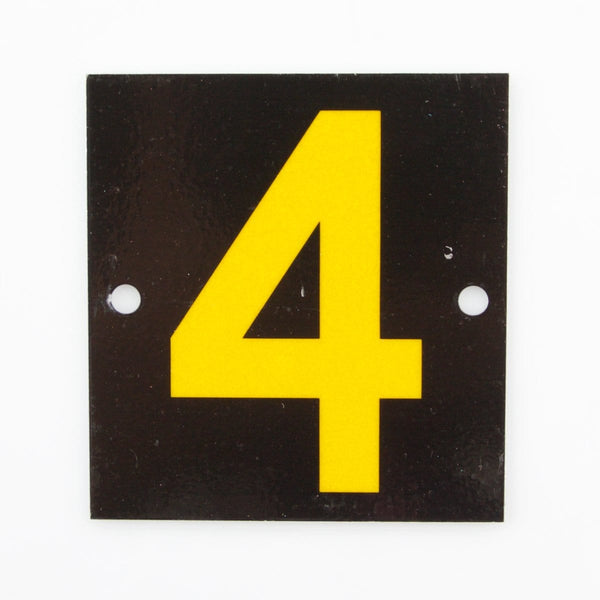 Reflective Identification Number - Black 4