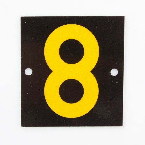 Reflective Identification Number - Black 8