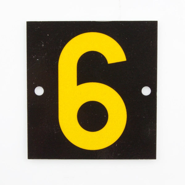Reflective Identification Number - Black 6