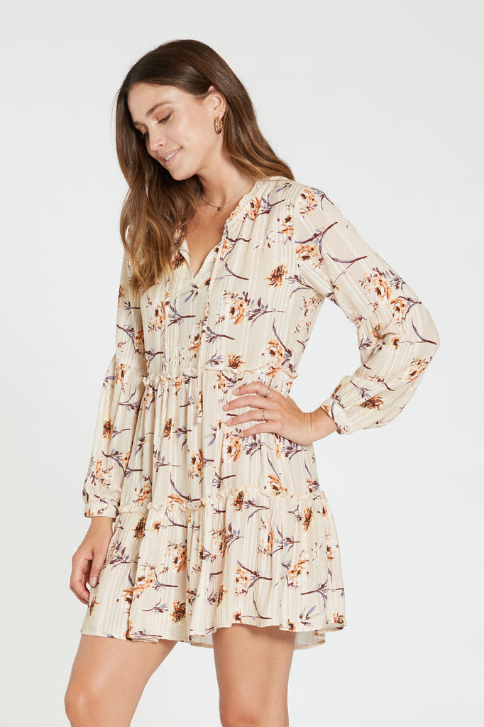 LUCY DRESS IN PEACH BLOSSOM