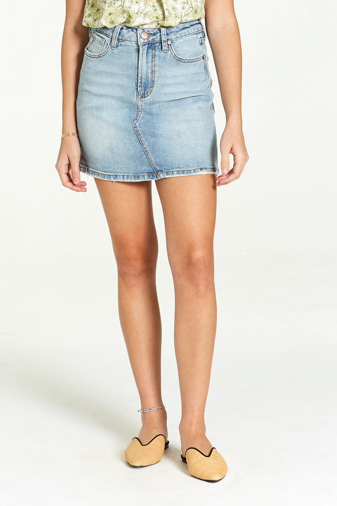 QUINN DENIM SKIRT PRECISION