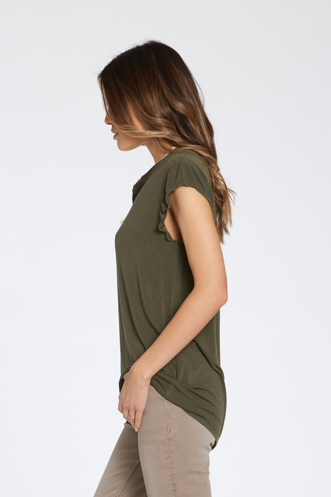 TALULLAH SHIRT IN FOREST GREEN