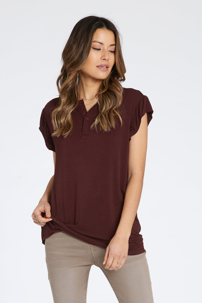 TALULLAH SHIRT IN SYRAH