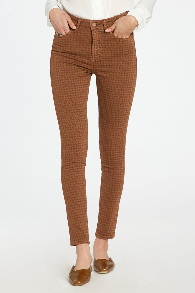 "10 1/2"" SUPER HIGH RISE OLIVIA IN HOUNDSTOOTH CARAMEL"