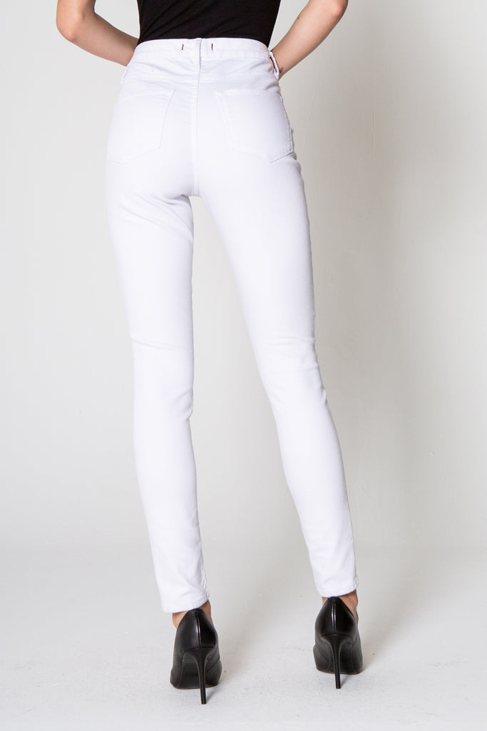 "10 1/2"" OLIVIA SUPER HIGH RISE SKINNY IN OPTIC WHITE"