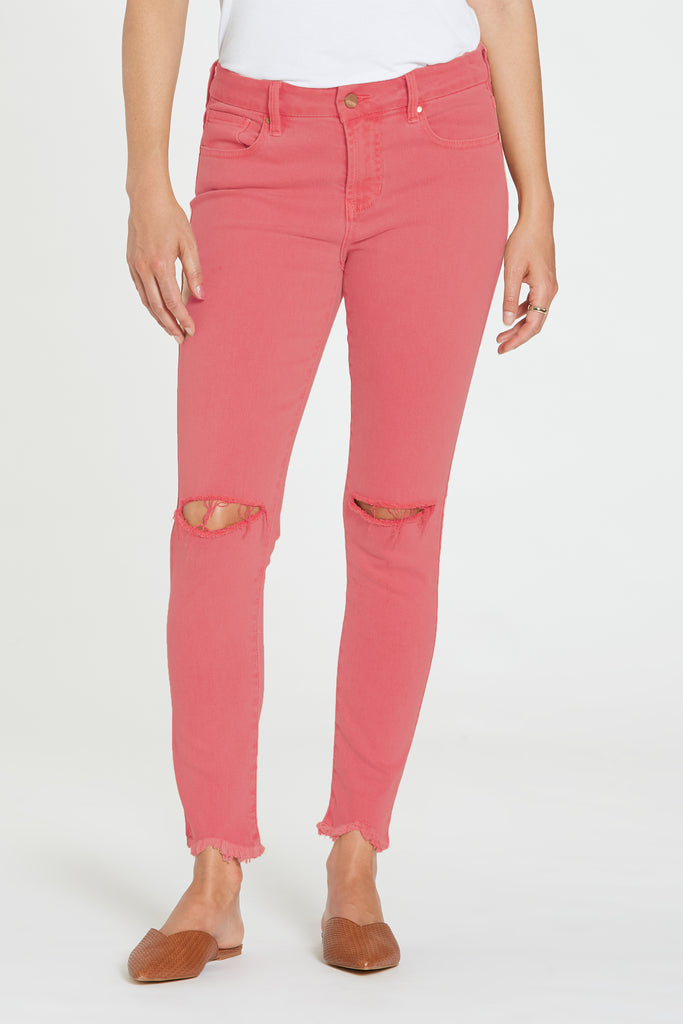 "9 1/2"" HIGH RISE GISELE JEANS TERRACOTTA"