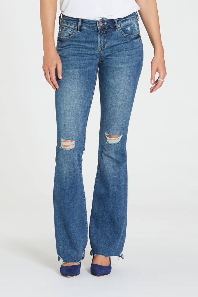 "8 1/2""MID RISE RISE ROSIE BOOTCUT BLUE ICON"