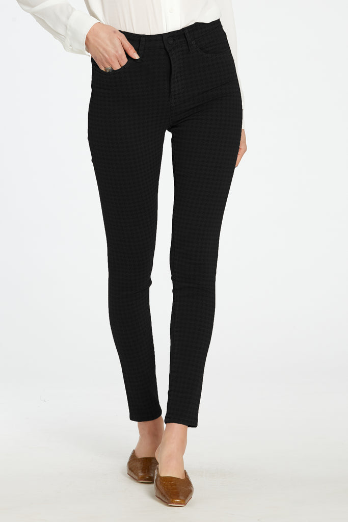 "10 1/2"" SUPER HIGH RISE OLIVIA IN HOUNDSTOOTH BLACK"