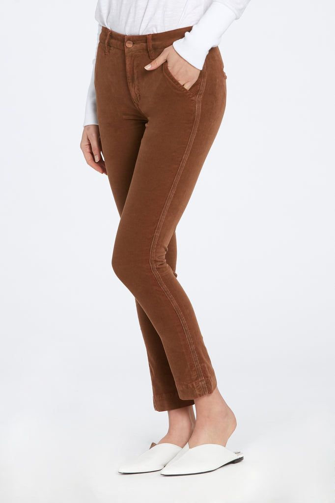 "9 1/2"" HIGH RISE MARGOT SKINNY TROUSER IN CARAMEL"