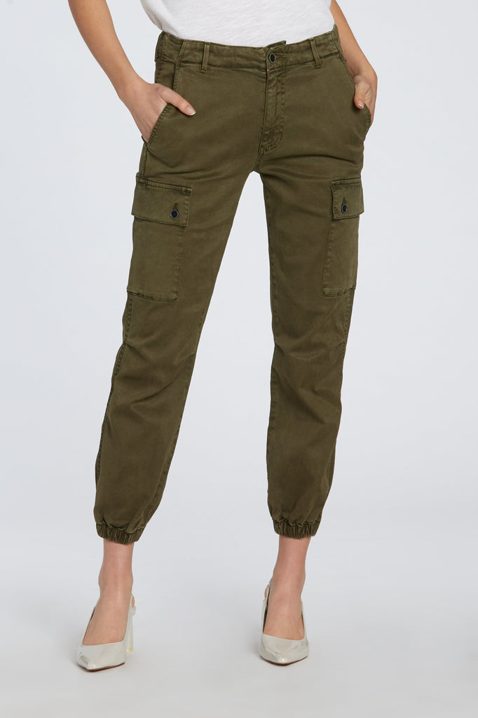 "10 1/4"" GIA HIGH RISE JOGGER IN PALM GREEN"