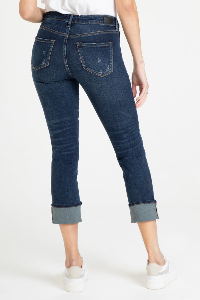 "9 1/2"" BLAIRE CUFFED JEANS IN DENVER"