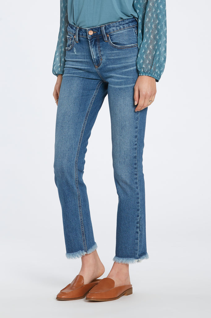 "9 1/2"" HIGH RISE STRAIGHT BLAIRE JEANS IN BRECKLAND"