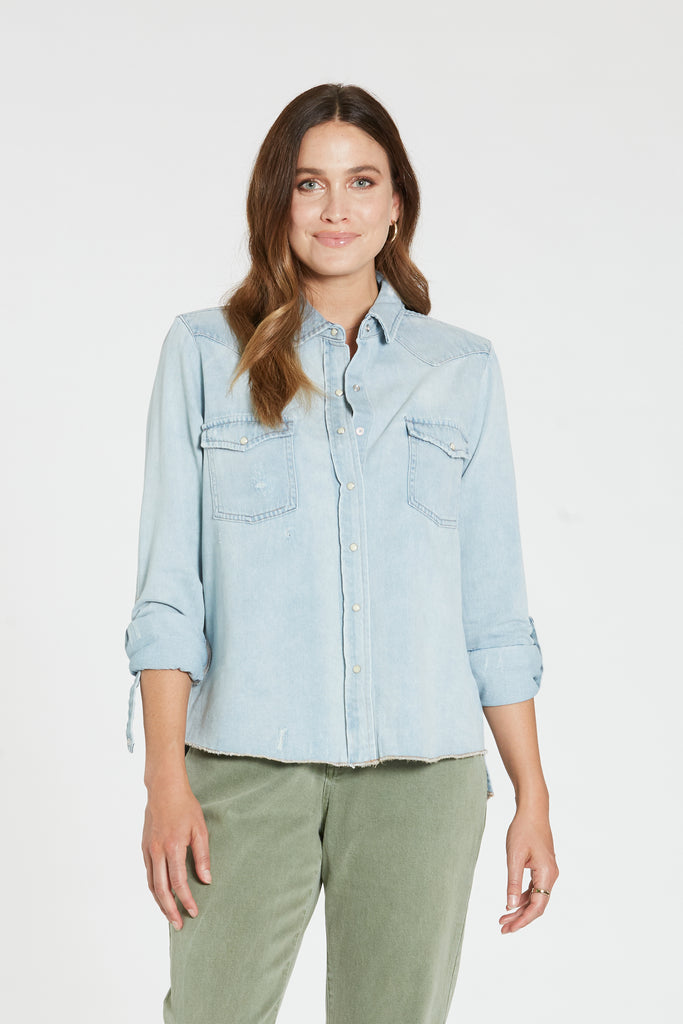 CASEY DENIM SHIRT SEA BLUE