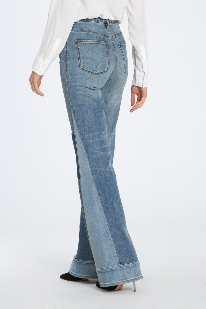 "10 1/2"" HIGH RISE MOLLY FLARE JEANS IN WALKER"