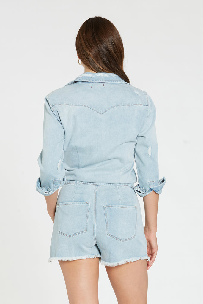 LOGAN ROMPER SEA BLUE