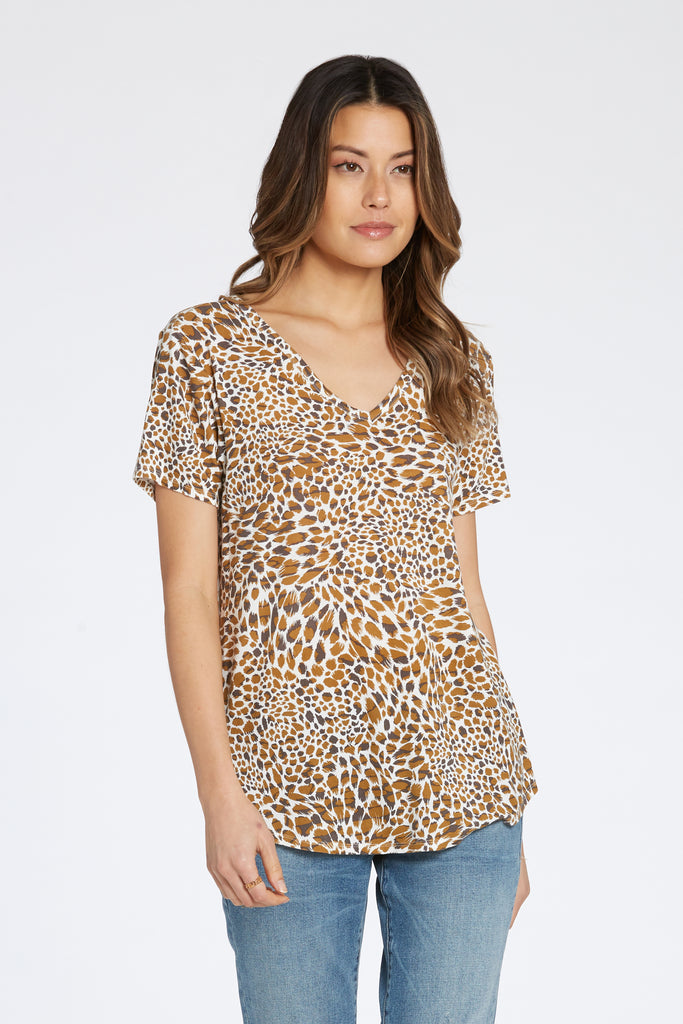 PAIGE SHIRT IN CARAMEL LEOPARD