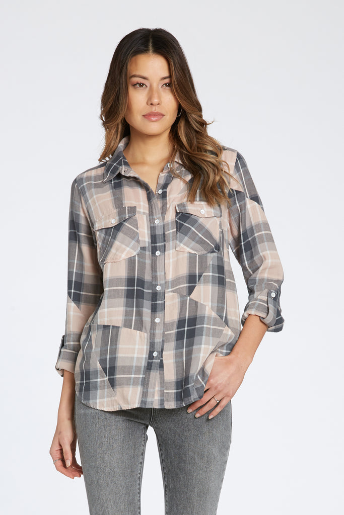 CLASSIC FIT MADISYN PLAID SHIRT