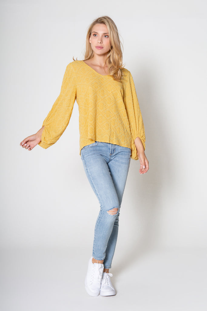 HARMONI TOP IN BUTTER