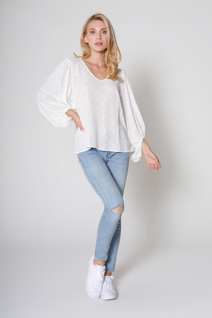 HARMONI TOP IN WHITE