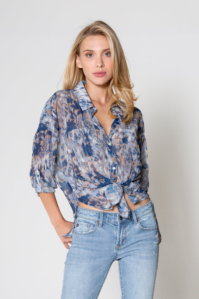 ARIANNA TOP IN BLURRED MAGNOLIA