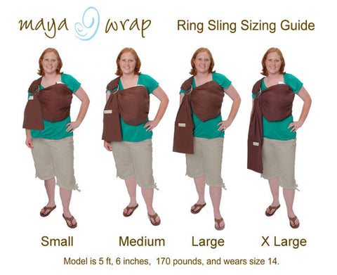 Maya Ring Sling Size Guide