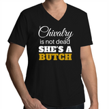 V-Neck Tee - Chivalry is not dead