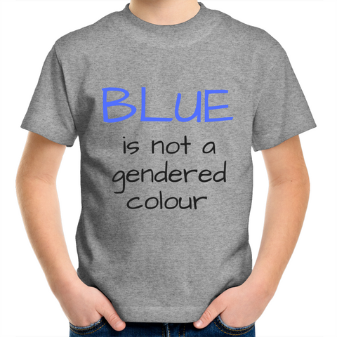 Kids Crew T-Shirt -  BLUE is not a gendered colour