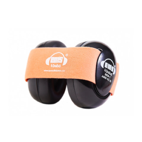 Ems for Kids – Baby Earmuffs (Black - Coral)