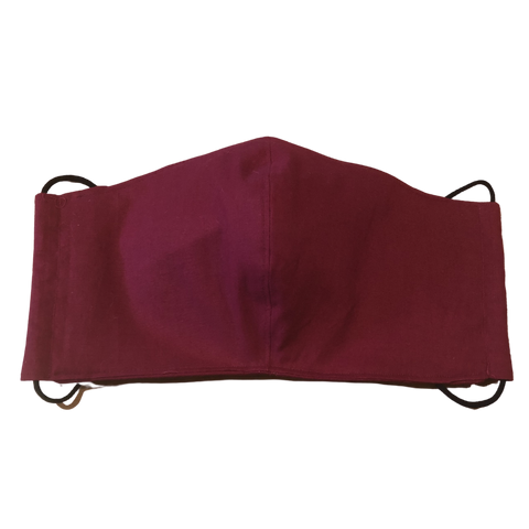 3-layer nose-wire Mask - Burgundy