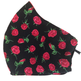 Child Pocket face mask - Roses