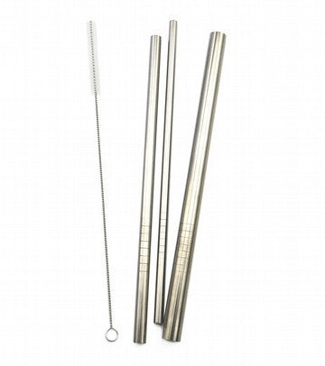 Haakaa Stainless Steel Straws - Straight (3 pack)