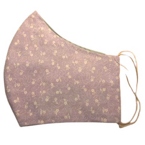 Cloth pocket face mask - Lavender flowers