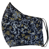 Pocket face mask - Navy floral