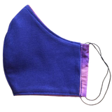 Cloth pocket face mask - Pink tie dye/Purple reversible