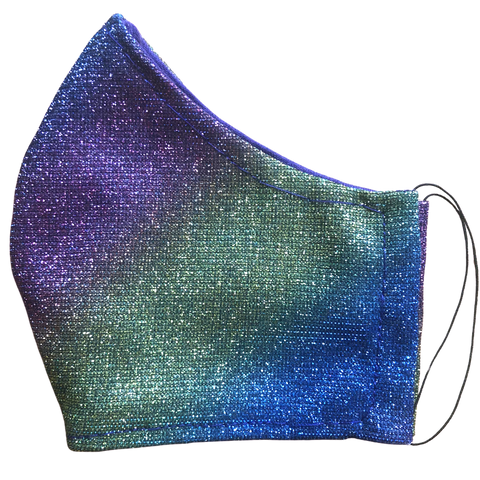 Cloth pocket face mask - Rainbow glitter