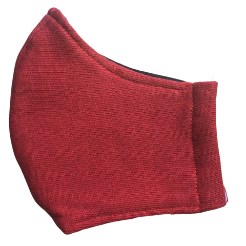 Cloth pocket face mask - Red jersey