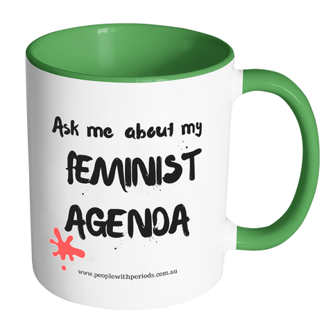 PwP Mug - Ask me about my Feminist Agenda