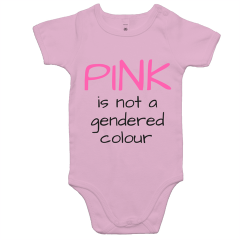 Baby Onesie - Pink is not a gendered colour