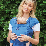 Hug A Bub Original Organic Pocket Stretch Wrap - Byron Blue
