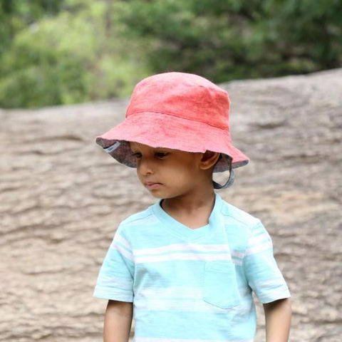 Melon Linen Baby Sun Hat (3-5 years)