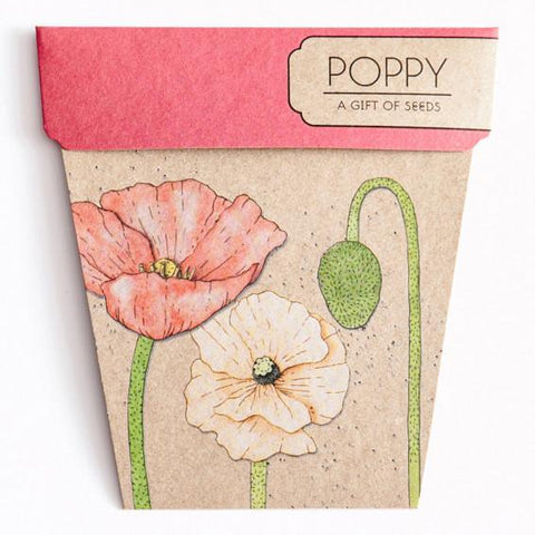 Gift of Seeds Greeting Card - Poppy