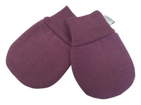Babu Merino Baby Mittens - Heather