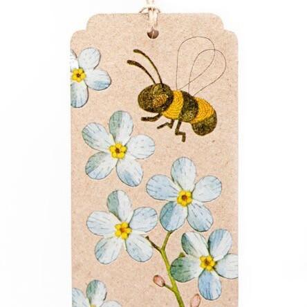 Recycled Forget-Me-Not Gift Tag