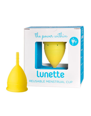 Lunette Menstrual Cup - Lemon - Model 1
